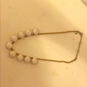 Jcrew white statement necklace